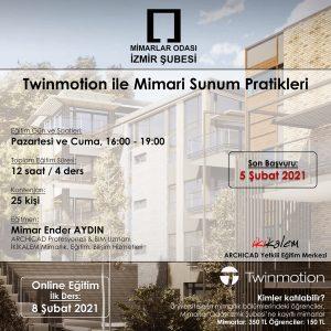 Twinmotion eğitimleri hem İzmir'de, hem de benim için bir ilk sayılır... Bakalım nasıl kotaracağız? ;)